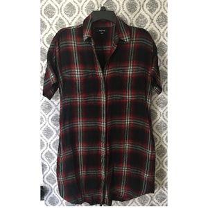 NWOT Madewell Flannel Shirt Dress